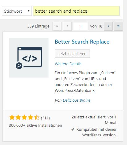 Better Search and Replace Plugin