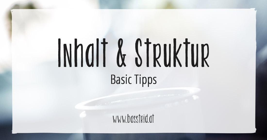 Inhalt & Struktur Tipps